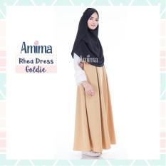 Gamis Amima Rhea Dress Goldie - Baju Gamis Wanita Busana Muslim