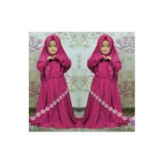 Harga Gamis Anak Pakaian Anak Muslimah Fashionable Gm Set Syanda Kids Purple Baru Murah