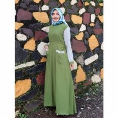 Gamis Ayudia La Tahzan Olive - Baju Muslim Wanita Baju Muslimah