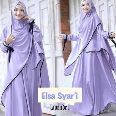 Gamis / Baju / Pakaian Wanita Muslim New Elsa Syari Lavender