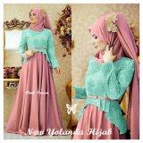 Promo Gamis Baju Pakaian Wanita Muslim Yolanda Syari Pink Tosca Murah
