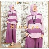 Miliki Segera Gamis Baju Setelan Wanita Muslim Binaiya Syari Lavender