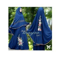 Gamis / Baju wanita Muslim Mayra Syari biru