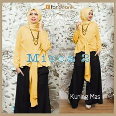 Spesifikasi Gamis Baju Wanita Muslim Micca Syari Set 3In1 Kuning Mas Beserta Harganya
