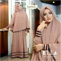 Gamis / Baju Wanita muslim Syfarose Syari Coklat Muda