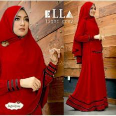 Harga Gamis Baju Wanita Muslim Syfarose Syari Merah Origin