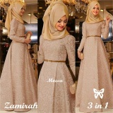 Spesifikasi Gamis Baju Wanita Muslim Zamirah Syari Mocca Beserta Harganya
