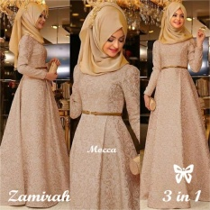Tips Beli Gamis Baju Wanita Muslim Zamirah Syari Mocca