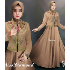 Gamis Syari Pesta Payet manik Diamond Mewah - Baju Kondangan Muslimah - Gaun Pesta Muslim - Busana Fashion Muslim Wanita Terbaru - ihmissdiamond