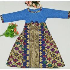 Toko Gamis Batik Anak Bahan Katun Dy03 Biru Terlengkap