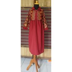 Gamis Batik Anak Bahan Katun Warna Merah BAC26