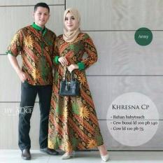 Gamis Batik Sarimbit - Busana Muslim Couple Kresna Army