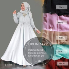 Gamis Polos Baloteli Orlin Dress RealPict - Gamis Pesta Model Payung