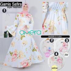 Gamis Bunga Safira | Bahan Maxmara | Amera Muslim Outfits
