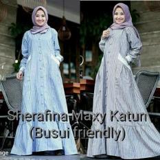 Beli Gamis Busui Baju Dress Menyusui Hijab Murah Baru Sherafina Maxy Murah Indonesia