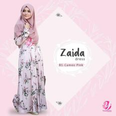 Gamis Cantik Bahan Maxmara Royal Satin Zaida Dress - B1 Cameo Pink