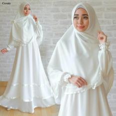 Gamis Ceruti White Gamis Putih Baju Gamis Umroh - Pakaian Haji