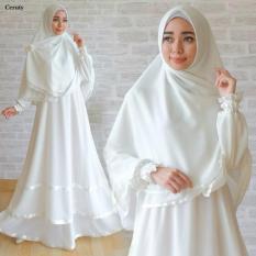 Gamis Ceruti White Gamis Putih Umroh Pakaian Haji Polos