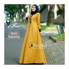 Gamis Dress muslimah Baju hijab model baru murah Alma Dress Bandung