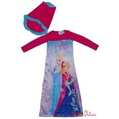 Disney Original - Baju Gamis Frozen Sisters II (Pink)