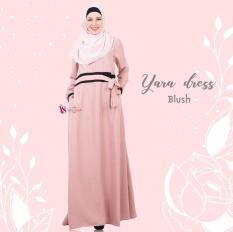 Gamis House Of Valisha Yara Dress Blush - Baju Gamis Wanita Busana