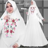 Beli Gamis Alimah Syari Motif Bordir White Gamis Muslim Dengan Harga Terjangkau