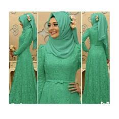 gamis lebaran hijab seikha brukat pakaian pesta maxi dres baju muslim