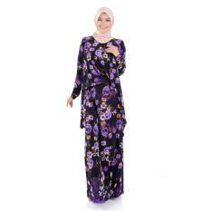 Penawaran Istimewa Gamis Long Dress Gamis Maxi Tangan Panjang Corak Bunga Nabilah Terbaru