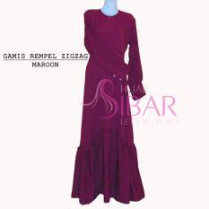 Katalog Gamis Pesta Gamis Syar I Gamis Mosscrepe Rempel Zigzag Long Dress Hijab Sibar Terbaru