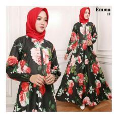 Gamis Maxi Dress Emma11 Warna Hitam (Tanpa Pasmina)
