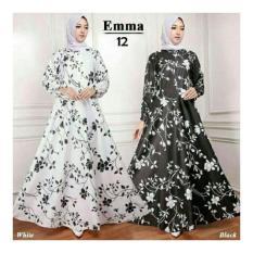 Situs Review Gamis Maxi Dress Emma12 Warna Putih Tanpa Pasmina