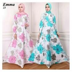 Gamis Maxi Dress Emma23 Warna Tosca ( Tanpa Pasmina)