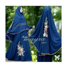 gamis maxi mayra syari biru pakaian wanita hijab pesta baju muslim
