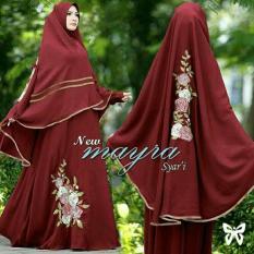 Gamis Maxi Mayra Syari Marun Baju Muslim Dres Pesta Wanita