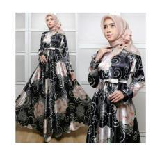 gamis maxmara dya hitam fashion wanita maxi dres baju pesta