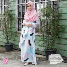 Gamis Maxmara Motif Watercolor Allura Dress By Yasmeera