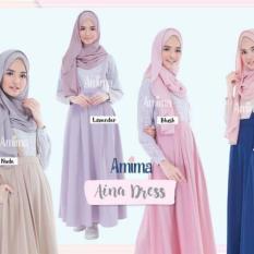 Gamis Modern Model Tangan Zipper - Aina Dress By Amima