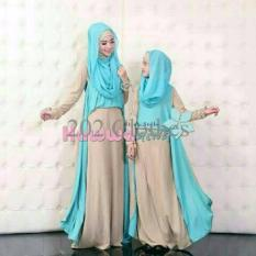 Gamis MTF Couple Syari Mom Kid Hawwa Aiwa Cream