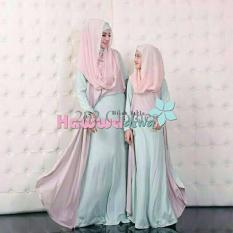 Gamis MTF Couple Syari Mom Kid Hawwa Aiwa Mint