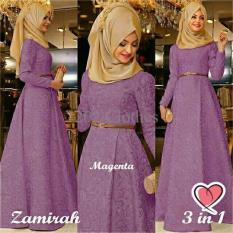 Gamis MTF Hijab Maxi Zamirah 3In1 Magenta