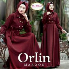 Gamis murah / Grosir pakaian wanita / Baju hijab busui : Orlin Dress