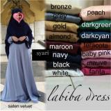 Promo Adzra Gamis Murah Syari Busana Muslim Wanita Labiba Dress Akhir Tahun