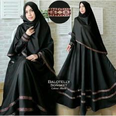 Gamis Muslim - Pakaian Wanita Muslimah - Fashionable - VR Gamis Syarii Pita Songket