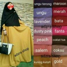 Toko Adzra Gamis Muslimah Polos Kamira Dress Online Terpercaya