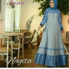 Gamis Nagita Salur Blue