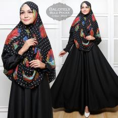 Gamis - Pakaian Wanita Muslimah -  Baju Muslim Dresses & Jumpsuits - Fashionable -  Gamis Syar'i Balotelly Bulu Polka - Black