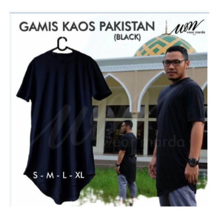 Gamis Pakistan Pria Bahan Kaos seperti Jubah Arab bisa jadi Baju koko