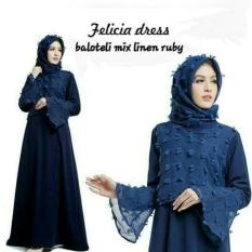 Gamis Pesta Cantik / Hijab Model Baru / Dress Pesta : Felicia Dress