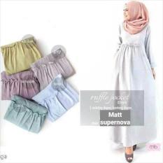 Gamis Polos / Dres Busui / Baju Menyusui / Hijab Murah : Ruffle Pocket