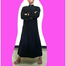 Gamis pria hitam polos gamis ikhwan jubah arab hitam polos